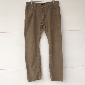 Banana Republic khaki corduroy pants 35x34